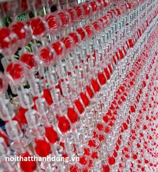 Rèm hạt Nhựa giả pha lê - Nội Thất Thanh Dung5